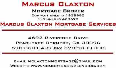mortgage services, Marcus Claxton, refinance